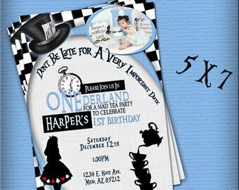 Alice in Wonderland Invitaion