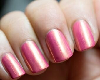 Discontinued - Azazael - Pink with Gold Shimmer Nail Polish