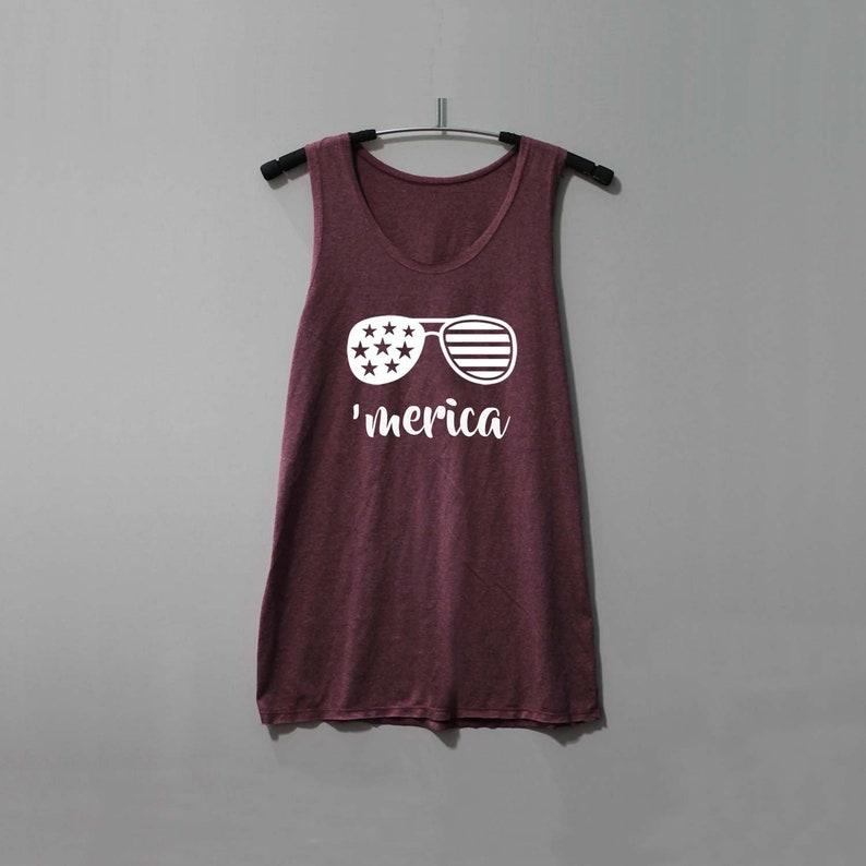 a2b8e5dd21c54 Merica Shirt 4th of July Shirt Slouchy Tank Top Singlet Tunic