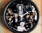 CATS The MUSICAL PLAY Cool Feng Shui Big Full 10 inch black wall clock Ships Tomorrow