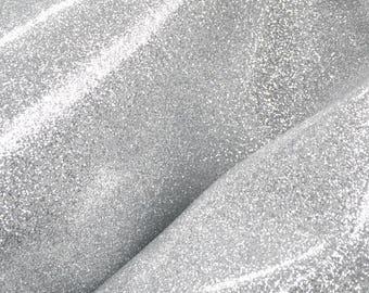 "Fashion Patent Silver Glitter Leather Cow Hide 12"" x 12"" Pre-cut 3-3 1/2 ounces DE-66426 (Sec. 6,Shelf 2,A)"