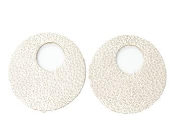 "12pk-Leather Large Window Circle Die Cut Champagne Bubbles ""Vegas""DIY Earrings DE-71606 (Section 10)"