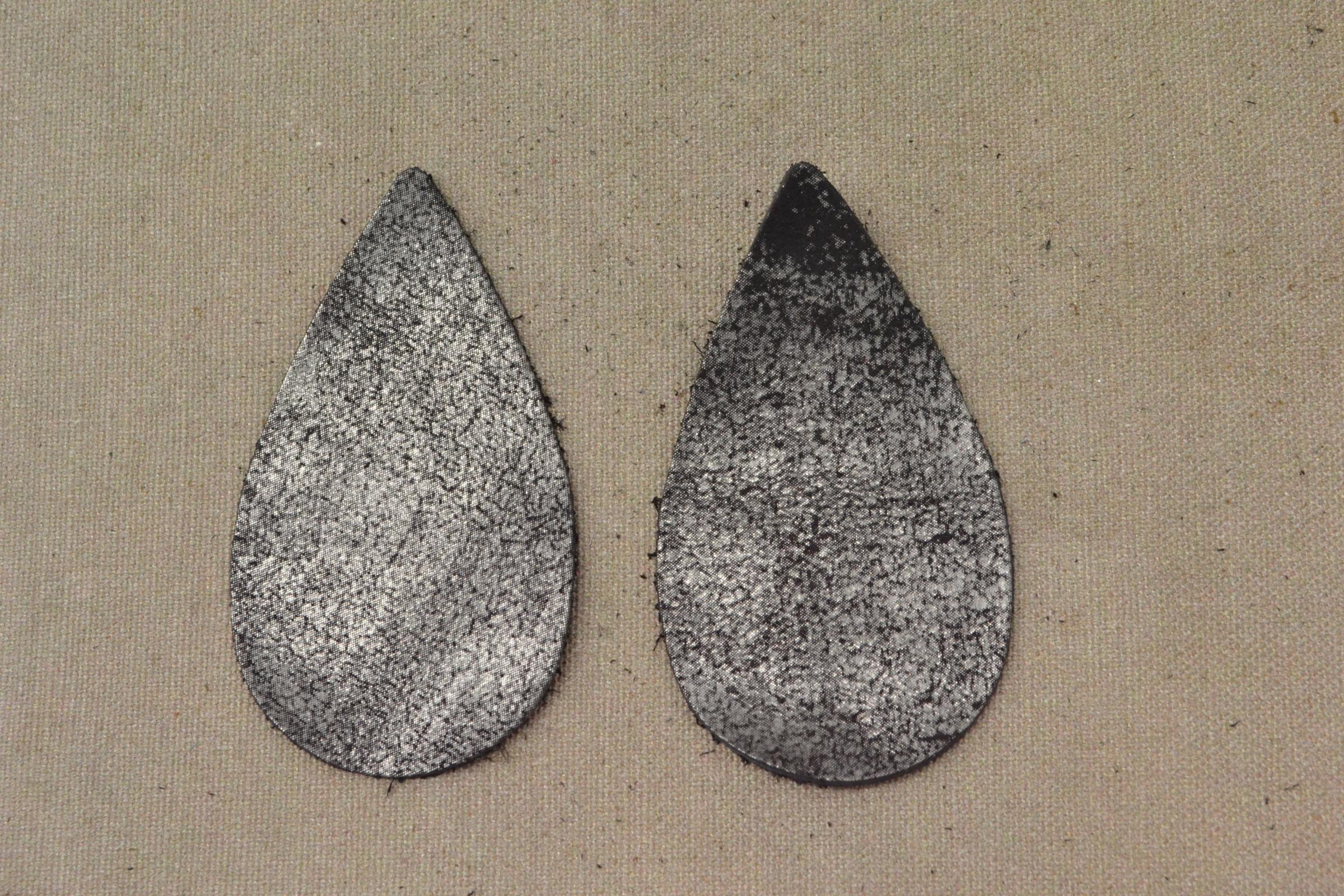 """12pk Leather Medium Teardrop Die Cut /""""Cali/"""" Orange County Fair DIY Earrings"""