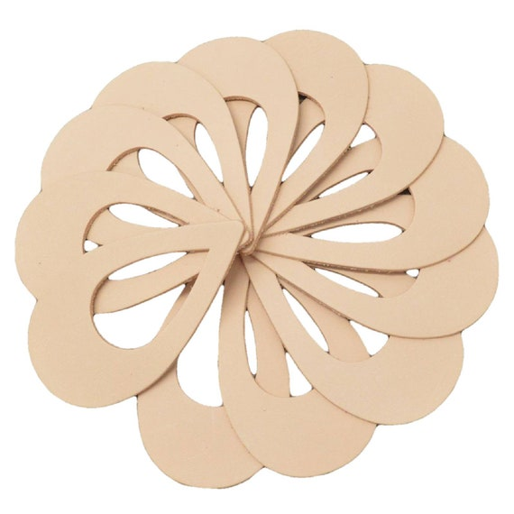 "Leather Earrings Lg Window Circle Die Cut 12pk VegTan 5-6oz/""Artisan/'s Choice/""DIY"