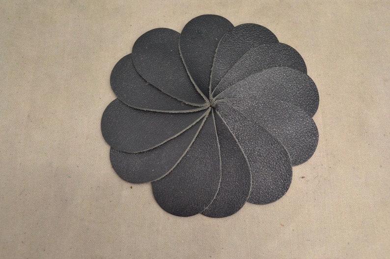 12pk-Leather Teardrop Large Die Cut Black Jack Metallic Vegas DIY Earrings SEC-10 DE-68429