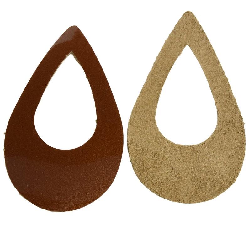 Leather Earrings Various Window Sizes 12pk Die Cut Caramel Taffy Brown Shimmer DIY