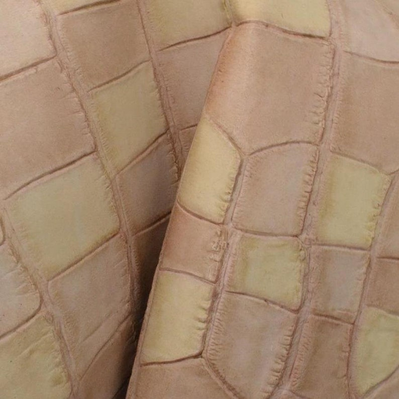 """G So What Pink /""""Rock-n-Roll/"""" Leather Cow Hide 4/"""" x 6/"""" Pre-cut 2-3oz"""