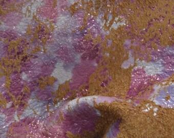 "Peach in Bloom ""Fashionista"" Leather Deer Tanned Cow Hide 4"" x 6"" Pre-cut 3 oz TA-37342 (Sec. 8,Shelf 6, D,Box 4)"