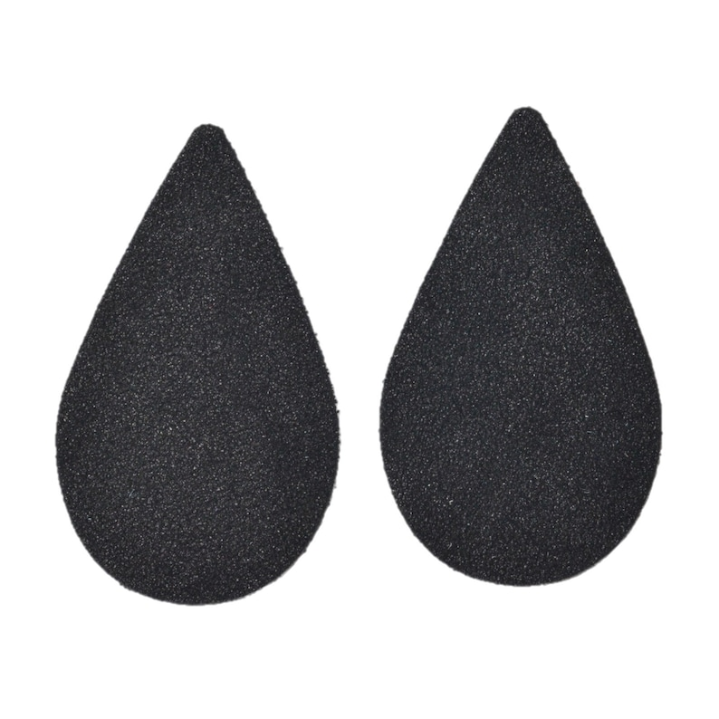 Clearance Leather Earrings Teardrop Large Die Cut 12pk Gold Glitter on Suede DIY
