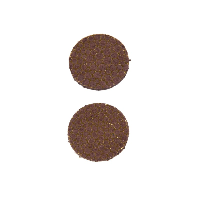 Leather Earrings Small Circle Die Cut 12pk Metallic Golden Bubbles DIY
