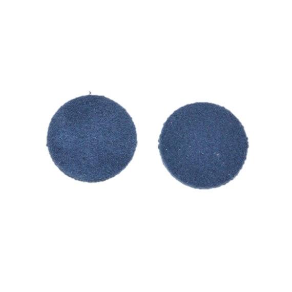 "12pk-Leather Teardrop Mini Die Cut /""Cali/"" Bakersfield Navy Blue DIY Earrings"