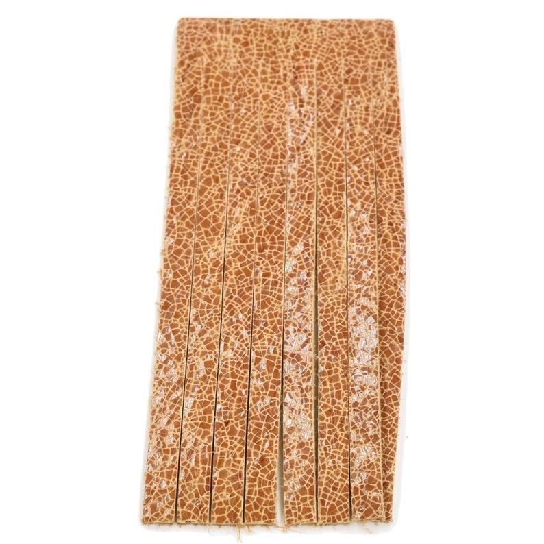 Leather Earrings Fringe Die Cut 6pk Sahara Desert Brown Crackle DIY Keychains