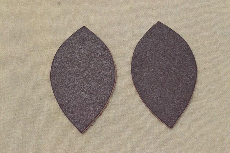 """12pk-Leather Leaf Large Die Cut /""""Cali/"""" Bakersfield Navy Blue DIY Earrings"""