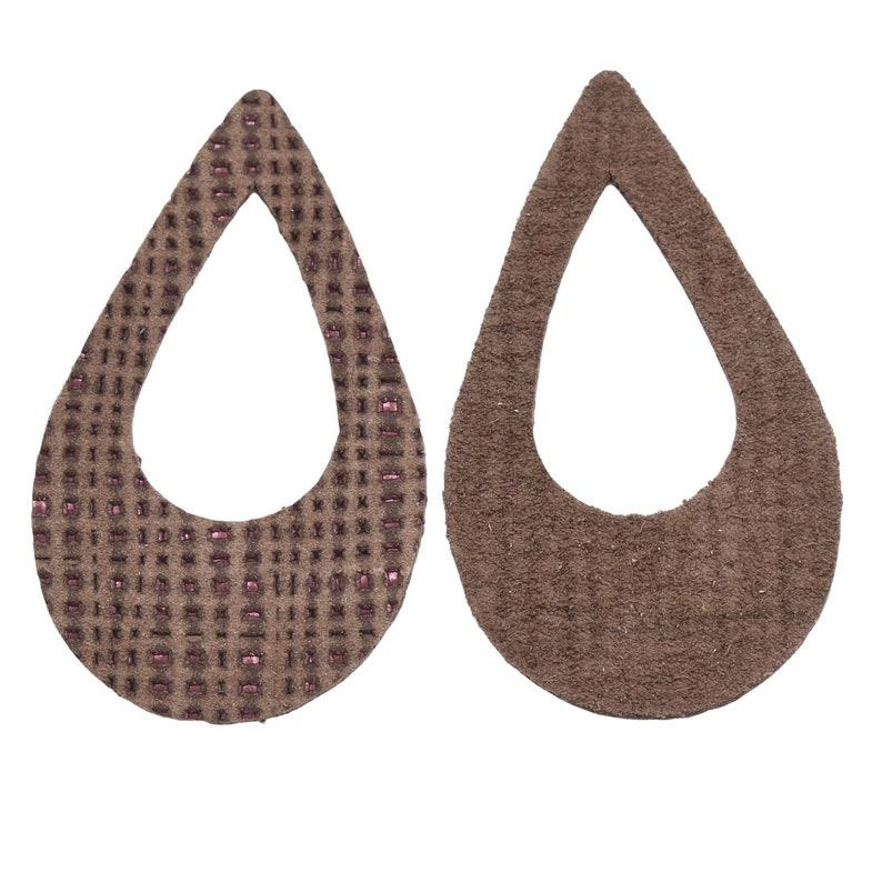 Leather Earrings Various Window Sizes 12pk Die Cut Ghost of a Rose Brown Net Embossed DIY