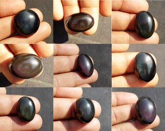 52.55 crt weight Oval Shape Cabochon size Rainbow Obsidian 25x29 mm