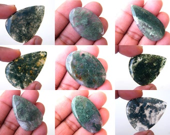 Natural Moss Agate gorgeous see view gemstone cabochon moss agate cabochon agate gemstone loose gemstone for jewellery gift for her cabs