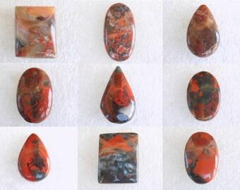 51.50 Grams Wholesale Price Natural Red Jasper Gemstone Cabochon Natural Gemstone Cabs 10 Pieces Red Jasper Cabochons Loose Gemstone