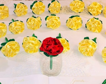 Beauty and the Beast Wedding Favor Pens-Yellow Princess Party Decorations  Baby Bridal Shower Favor-Bachelorette Party Decor-Rose Wedding Pen 9be6ceb42d