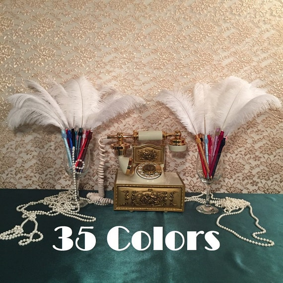 BLACK FEATHER PEN FOR YOUR WEDDING  OR ~ FAVORS ~ GIFT ~ SHOWER ~ JUST BECAUSE