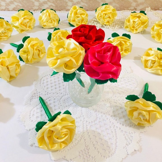Rose Flower Pens For Beauty And The Beast Wedding Etsy