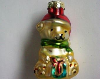 Vintage Mercury Class Miniature Teddy Bear Christmas Tree Ornament - 5783