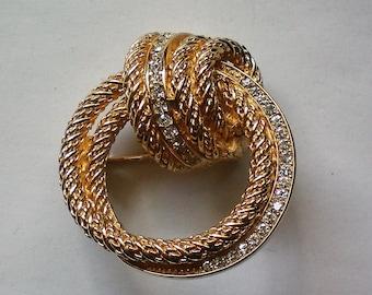 Christian Dior Swirl Brooch - 5926