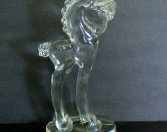 Paden Glass Large Pony Glass Horse Figurine - 3804