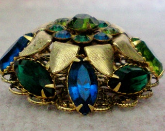 Large Domed Multi Layered  Brooch - 1176