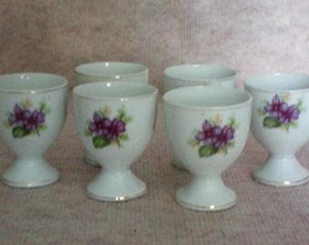 Porcelain Egg Cups – set of 6