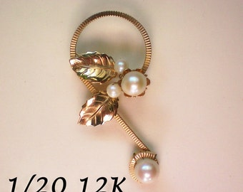 Gold Filled Pearl Pin from AMCO - 2735