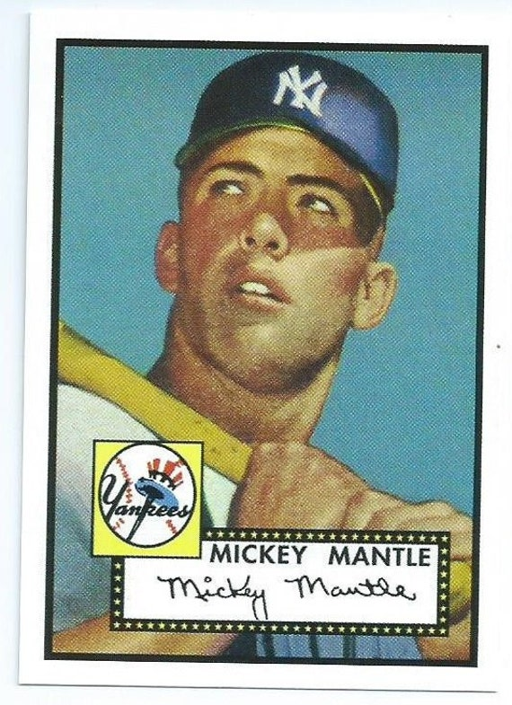 1952 Mickey Mantle Rookie Card 100 Percent Authentic From The 1983 Topps 52 Reprint Series Made In Ireland Mint 100 Authentic