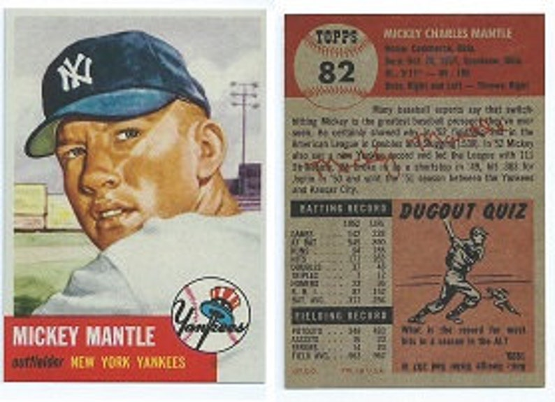 1953 Topps Mickey Mantle Rp