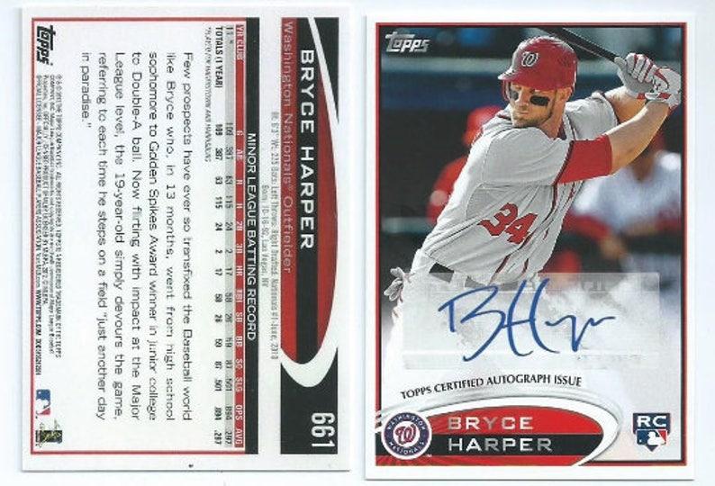 4ad441bff63d79 Bryce Harper Bowman Reprint Rookie Autograph Version
