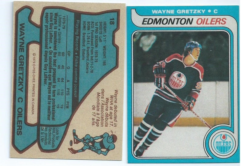 1979 Opc Or Topps Wayne Gretzky Rookie Rp