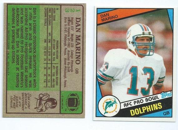 1984 Topps Dan Marino Rookie Card RP  ef7f95bfc