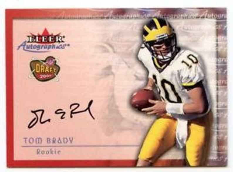 Tom Brady Fleer Autographics Reprint Rookie