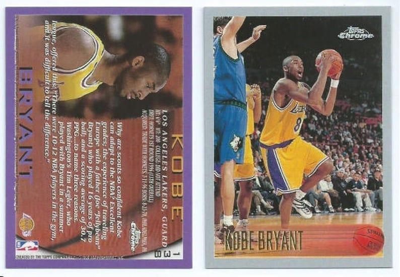 Kobe Bryant Topps Rookie Reprint