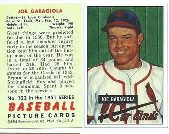 1951 Bowman Garagiola RC RP