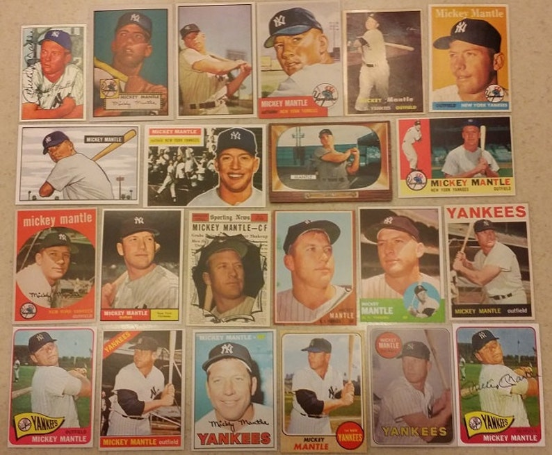 MICKEY MANTLE Mantle/'s Restaurant PROMO AD CARDS  L#17 Lot of 5