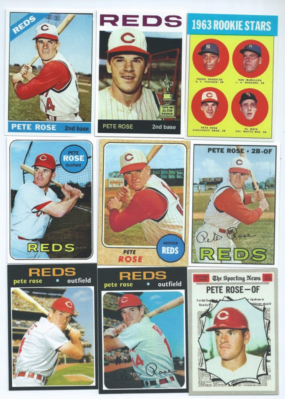 1963 Rose Rookie Card Reproduction Perfect Condition And Hard To Find Plus Choices Of All Of Petes Cards Please See Drop Box