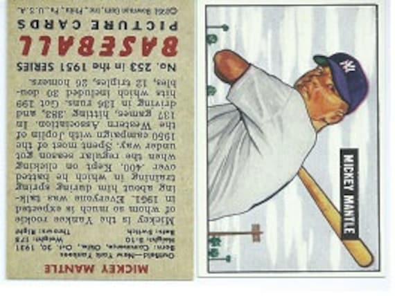 1951 Bowman Mickey Mantle True Rookie Card Rp