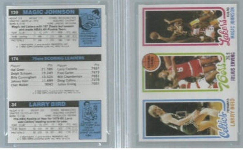 1979 80 Larry Bird Rookie Rp No Perforations Magic Johnson Rookie Card Bonus Dr J