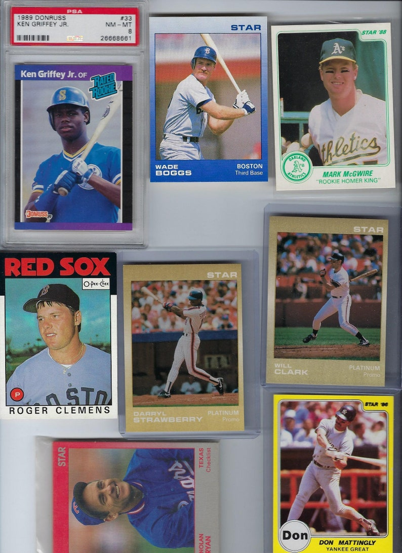 1984 Fleer Roger Clemens Rookie Card Reproduction Perfect Condition And Hard To Find