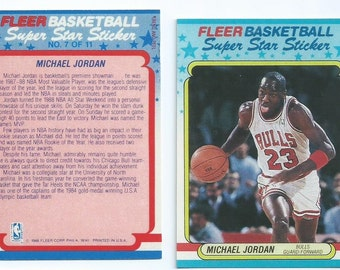 1987-1988 Fleer Micheal Jordan Sticker Replica (not a Sticker) 2nd Fleer Edition