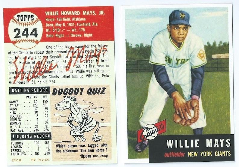 Duke Snider Gigantes de San Francisco 1964 Tarjeta de béisbol de arte Style Personalizado