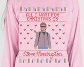 Steve Harrington Christmas Long Sleeve, strange, steve harrington, netflix, strange shirt, chirstmas, holiday