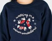 Weiner Wonderland Sweatshirt, Weiner Dog Christmas, Christmas Party, Winter Wonderland, Ugly Sweater Run, Tacky Christmas, Plus 3X 4X