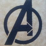 Avengers A Logo 99mm by 86mm - Fits a 4 by 4 Hoop
