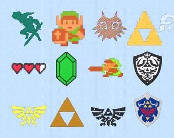 """Legend Of Zelda Emrboidery Design Set 4"""" by 4"""" Designs"""