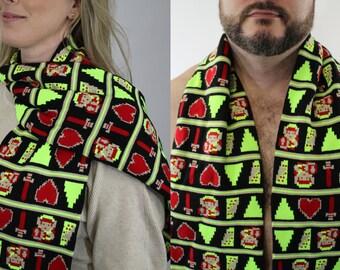 Legend Of Zelda 8 bit Scarf Knit